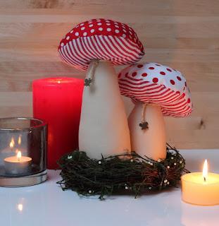 funghi handmade anche per il natale