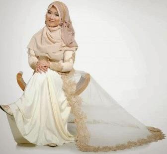 Baju pengantin muslimah yang sederhana