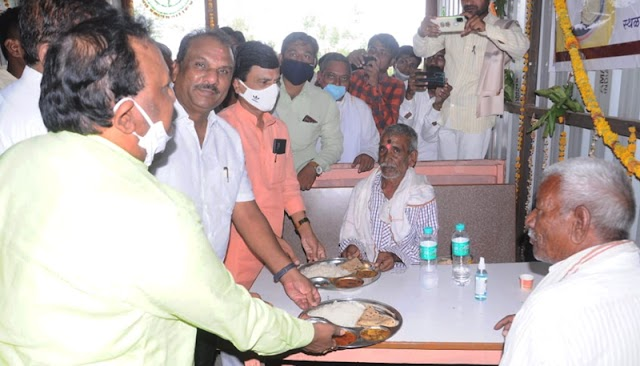 शिव भोजन थाळी उपक्रमातून गोरगरीब नागरिकांना मोफत जेवणाची सोय - मा.आ.बेटमोगरेकर -NNL