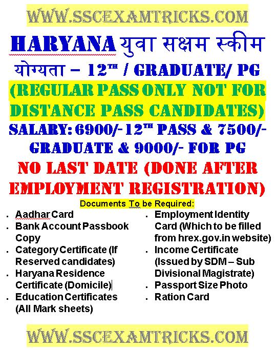 Haryana Shaksham Yuva Scheme