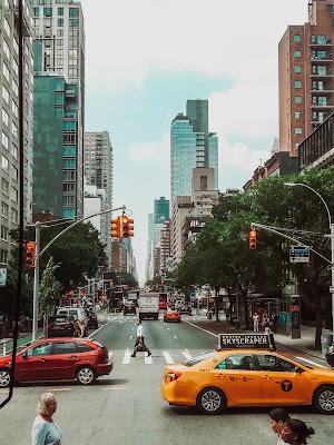 Avenida em Manhattan, Nova Iorque, EUA