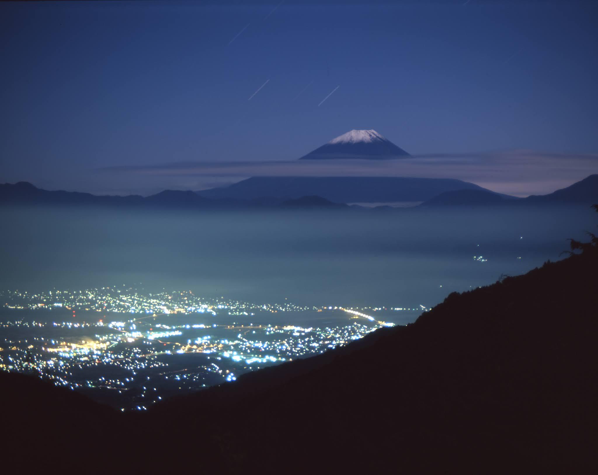 大判カメラ 富士山 夜景