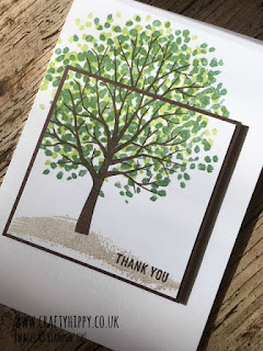 How to make a taller tree using the Sheltering Tree stamp set by Stampin' Up!