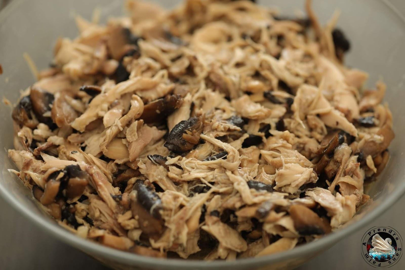 Mijoté de poulet aux champignons
