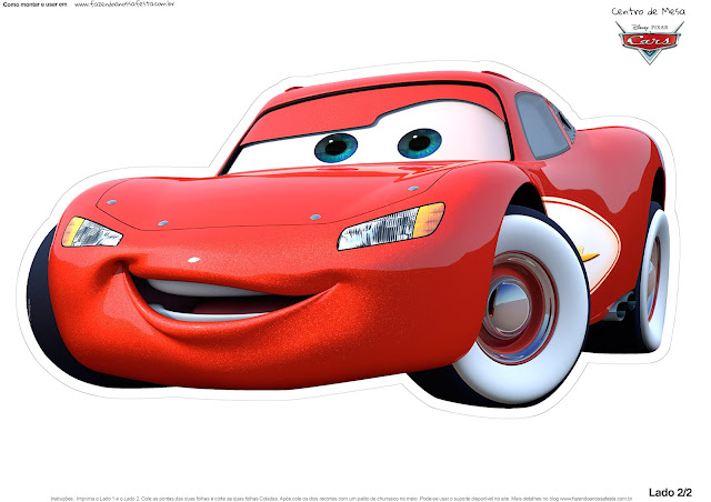Rayo McQueen of Cars: Free Printable Table Centerpiece.