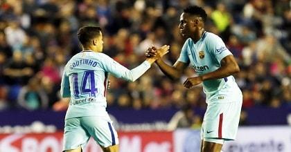 Philippe Coutinho faz 3, mas Barça perde invencibilidade de 43 jogos para o Levante - 5x4