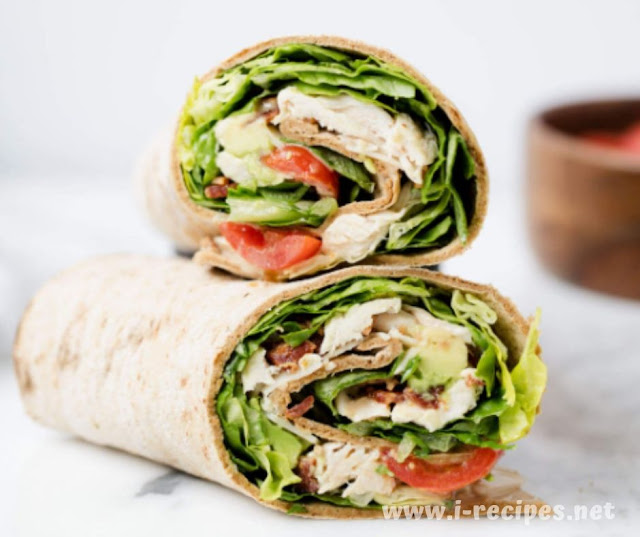 Easy Chicken Caesar Wrap