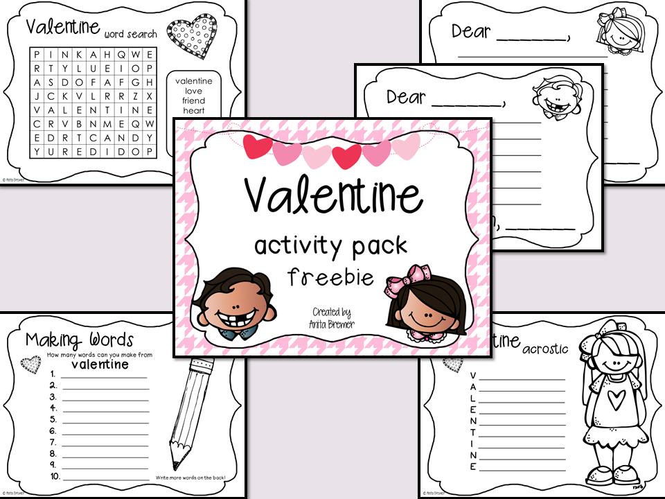 FREE Valentine's Day activity pack