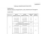 Jadual Penggal Persekolahan Sesi 2018 Kumpulan A Negeri Kedah, Johor, Kelantan dan Terengganu