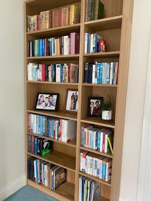 Ikea Billy bookshelves in oak