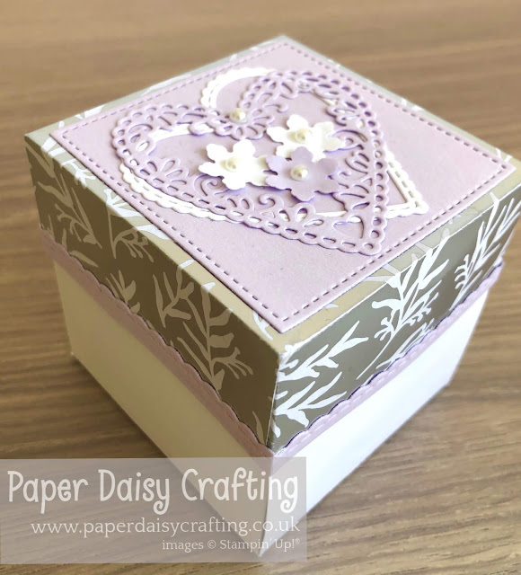 Meant to Be Stitched Be Mine Stampin Up Exploding Box