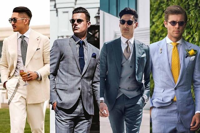 men's suit for Melbourne Cup