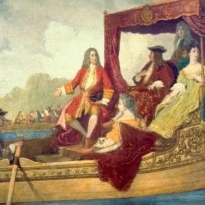 Em 2017 registramos o tricentenário de um acontecimento único na música clássica. Na quarta-feira 17 de julho de 1717, à noite, ocorreu em Londres um evento real de grande esplendor. O rei Jorge I e a nobreza inglesa embarcaram, com pompa e opulência, em barcas abertas no rio Tâmisa em Whitehall e navegaram rio acima até Chelsea, onde eles participaram de um banquete. A comitiva incluía a Duquesa de Bolton, a Duquesa de Newcastle, a Condessa de Darlington, a Condessa de Godolphin,