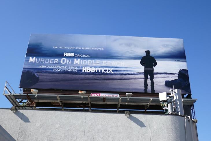 Murder on Middle beach billboard
