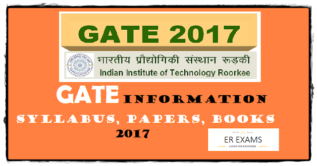 GATE Information Syllabus, Papers, Books  - 2017