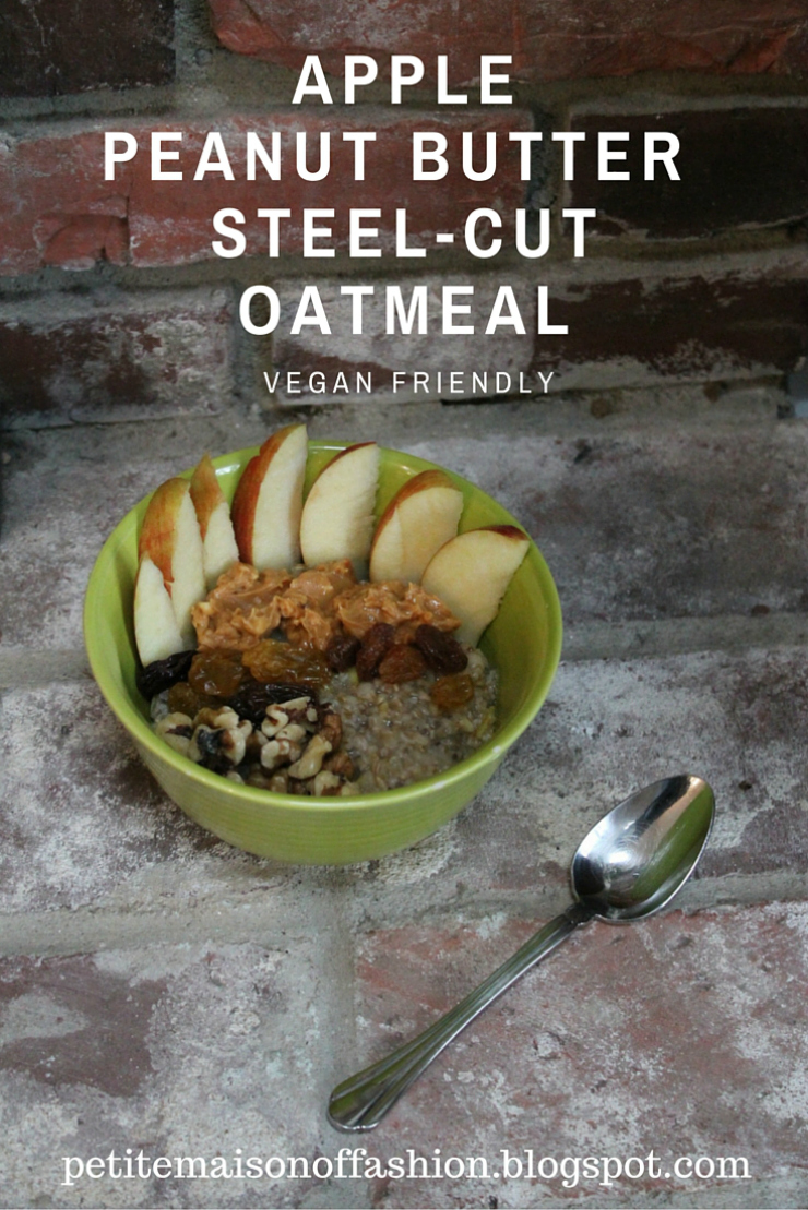 Apple Peanut Butter Steel-Cut Oatmeal