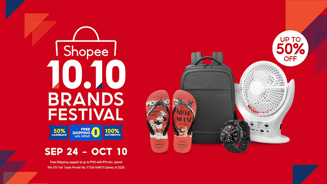 50% Off on Shopee's 10.10 Brands Festival