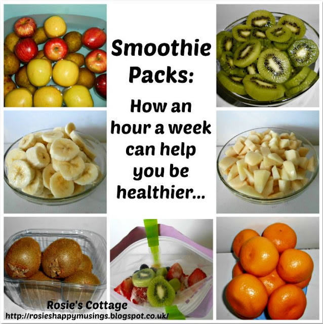 Smoothie packs: how an hour a week can help you be healthier