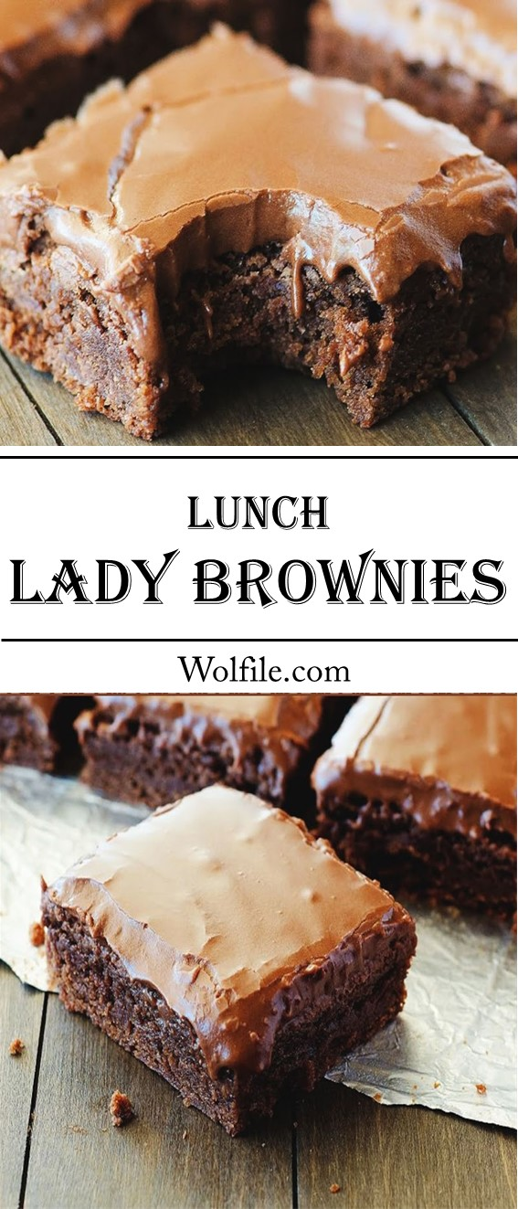 Lunch Lady Brownies #Brownies #Cake #Chocolate