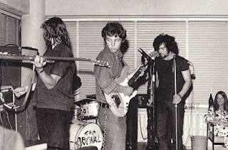The Original Sin circa 1968 Simon Morris, Steve Robinson, Rick Bryant and Lindy Mason. Robinson and Mason were also in the wonderfully named Kelburn International Airport Ceremonial Guard Band.