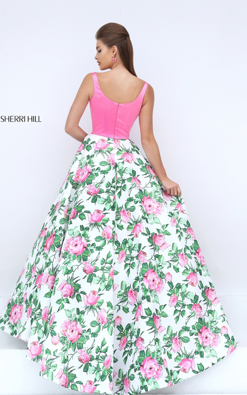 2016 Sexy Prom Gown: 2016 Sherri Hill Floral Printed Queen ...