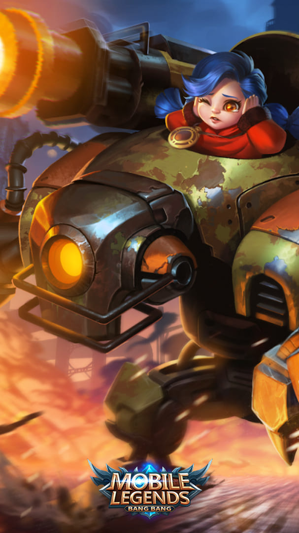 Wallpaper Jawhead Steel Sweetheart Skin Mobile Legends HD for Android and iOS