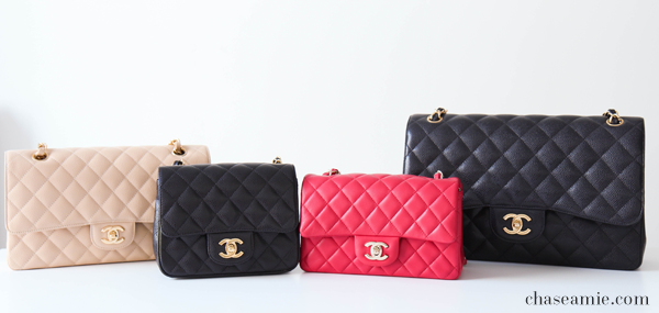 99c5ba97f48 Sizes. Chanel Classic Flap Bag – Mini Square  6.7″ W x 5.2″ H x 3.1″ D