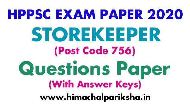 hppsc-storekeeper-756-exam-paper