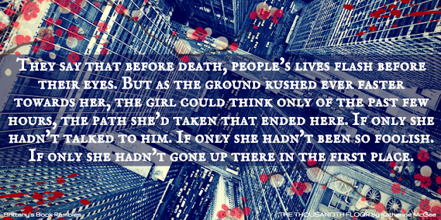 Brittany S Book Rambles The Thousandth Floor By Katharine