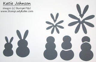 Punch art card for Easter makes an Easter Rabbit using the Snowman and Daisy punches