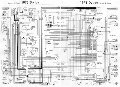 Dodge Coro and Charger 1973 Complete Wiring Diagram