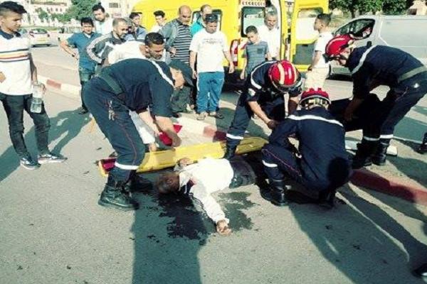 حادث مرور خطير في اصطدام دراجتين