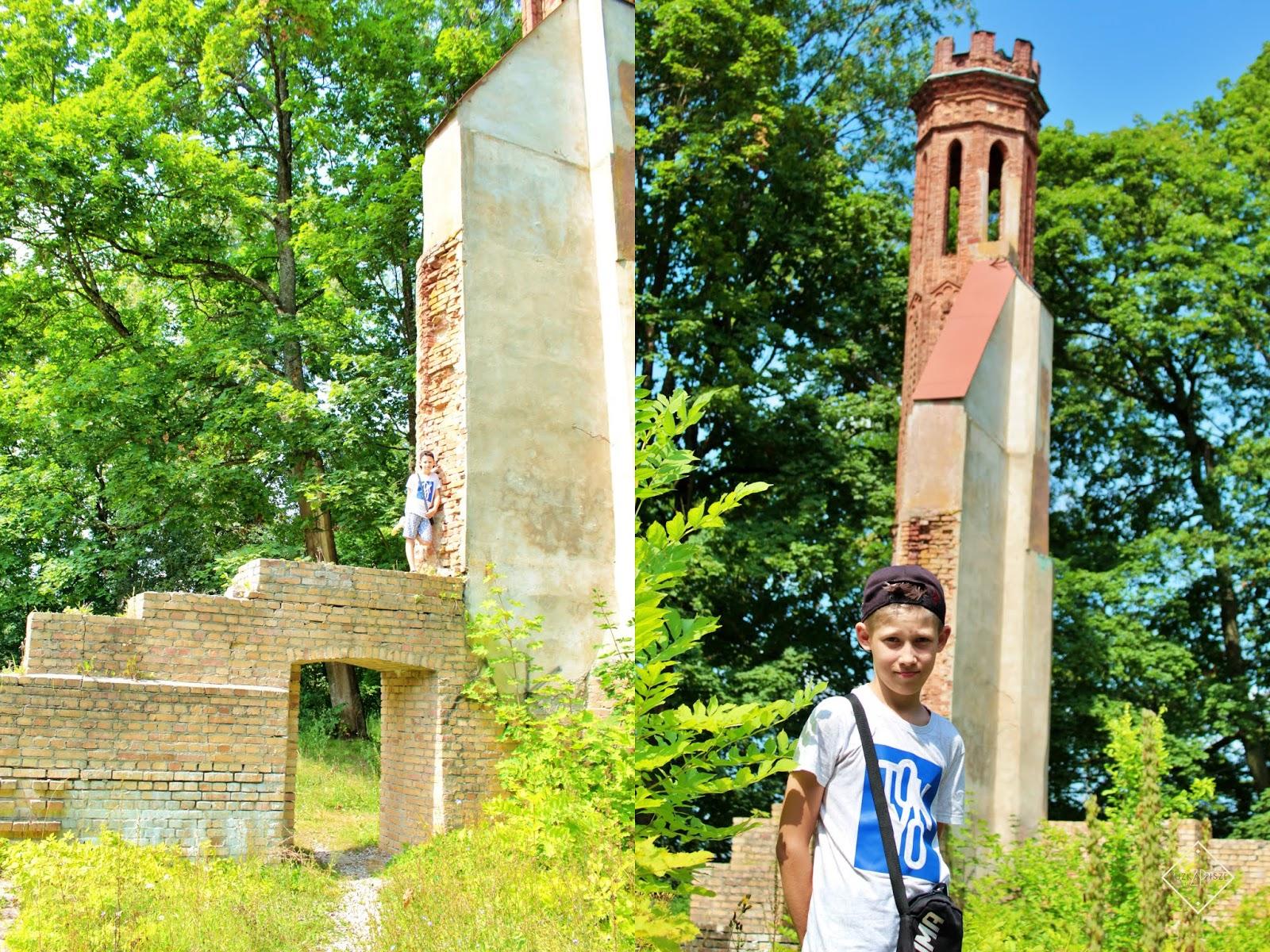 ruiny pałacu paca dowspuda
