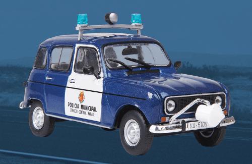 Renault R4 1981 Policía Municipal vehículos de reparto y servicio salvat