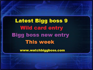 Latest Big Boss wild card entry