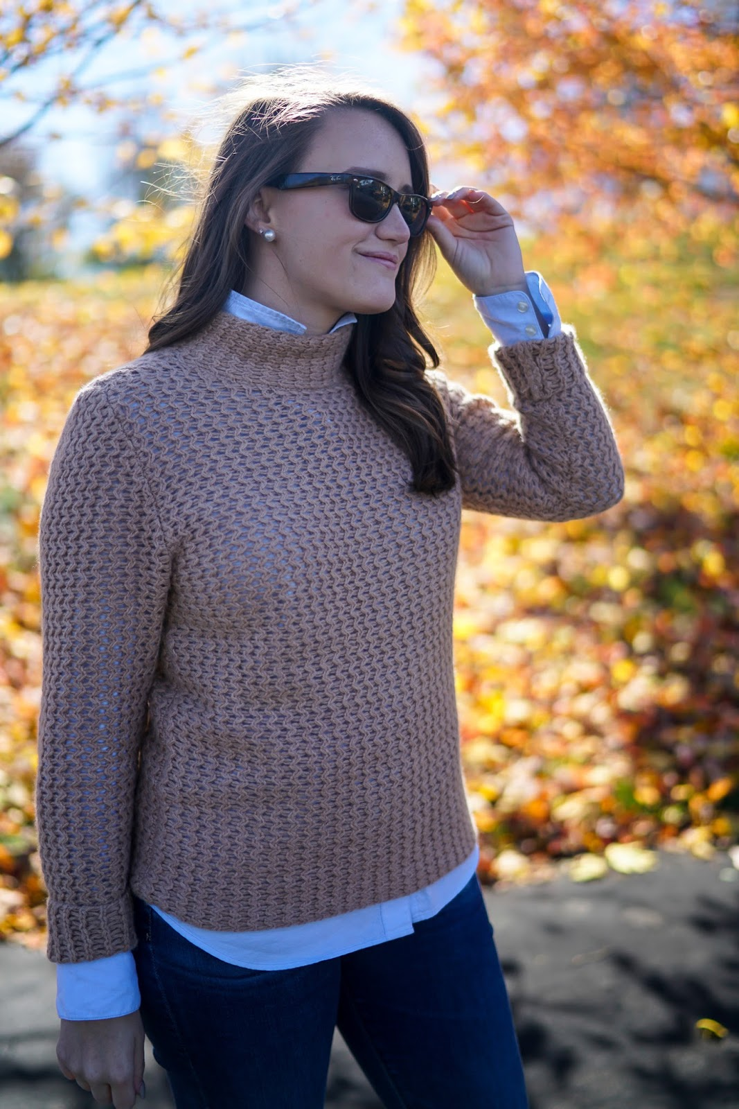 Halogen Mock Cashmere Sweater