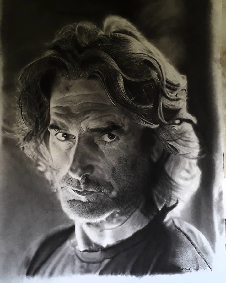 12-Sam-Elliott-Ivan-Kobilšek-Pencil-Portrait-www-designstack-co