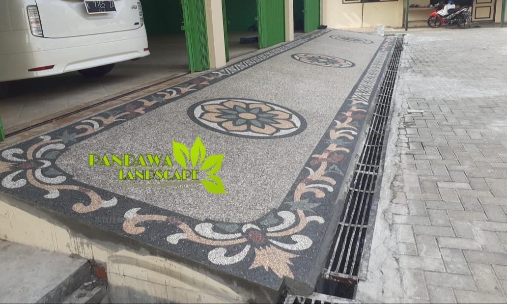 Harga Pasang Batu Sikat Di Surabaya Sidoarjo Jasa Tukang Pembuatan Lantai Carport Surabaya Pandawa Landscape