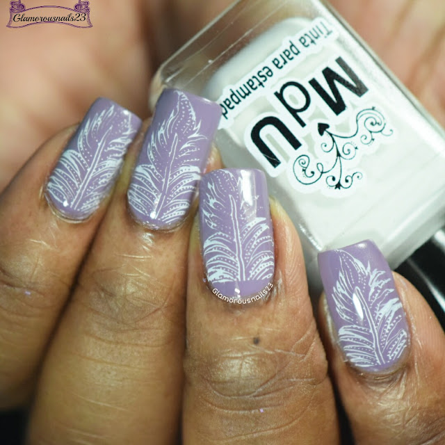 Mauve & White Stamping