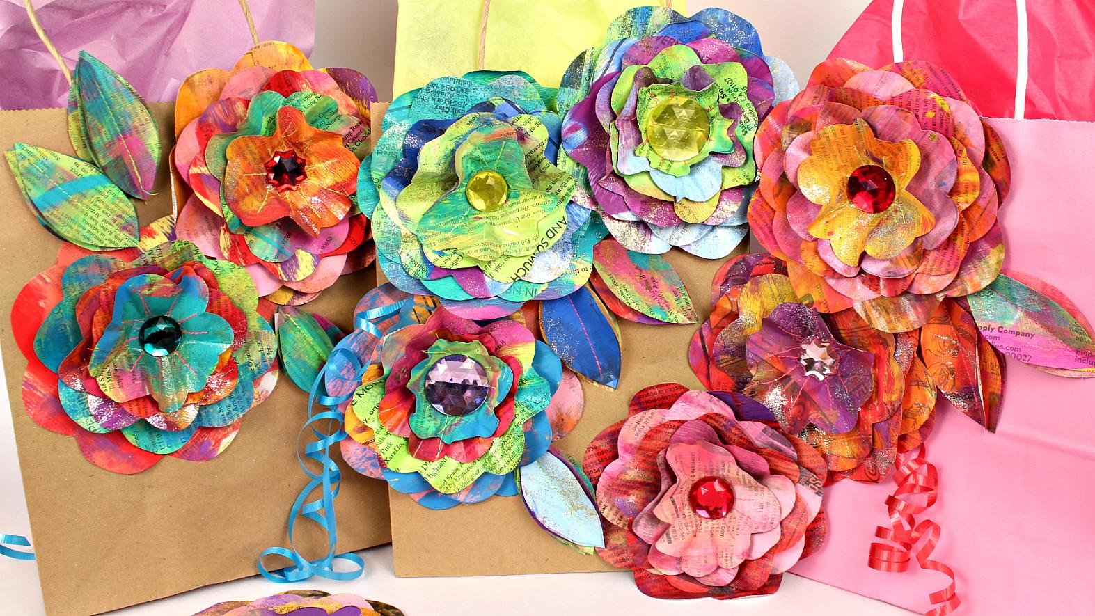 Mark Montano Newspaper Flowers Diy