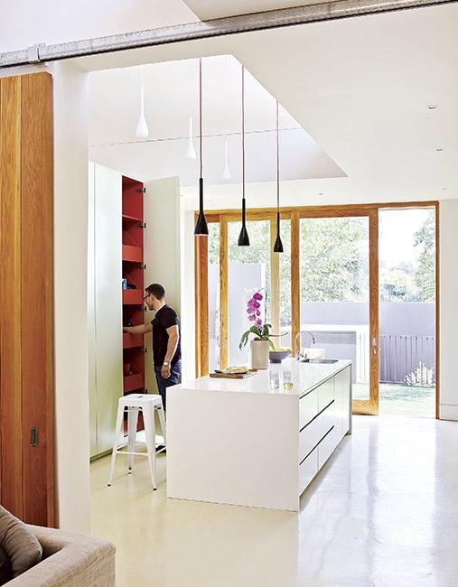 cocina de diseño en blanco chicanddeco