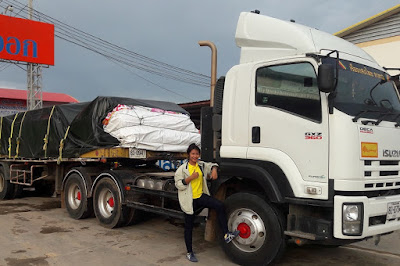 Buriram Home Building Materials Delivery Lorry