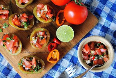 421. Pieczone ziemniaki z lekką salsą pico de gallo
