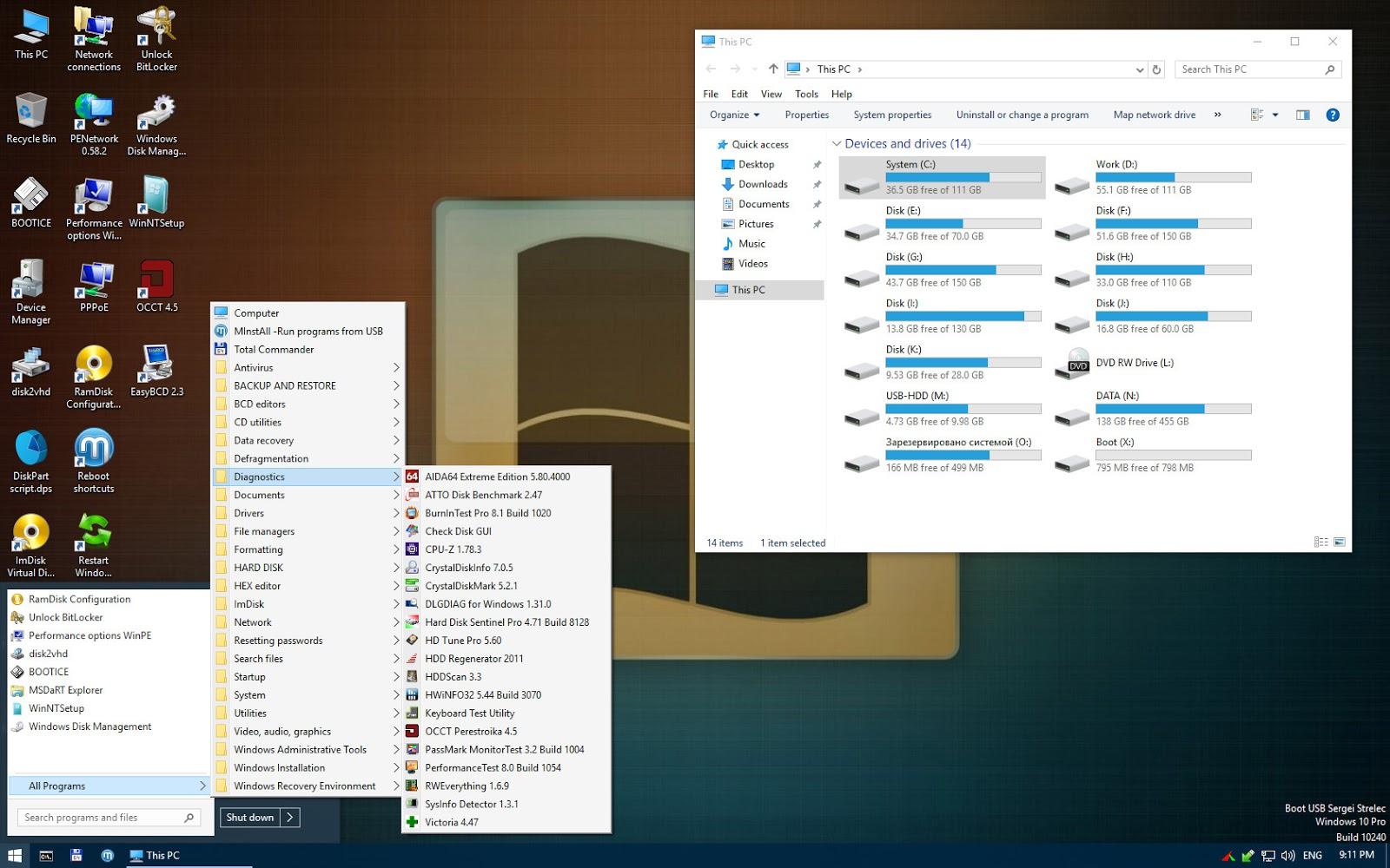 Desktop Winpe 10 8 Sergei Strelec X86 X64 Native X86