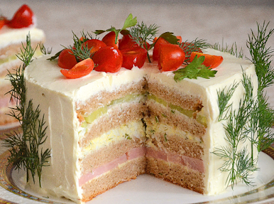 Бутербродный торт картинка
