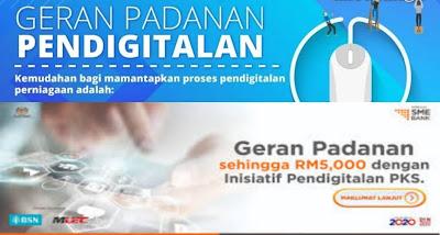 Permohonan Geran Padanan Pendigitalan PKS RM5000 BSN (Borang)