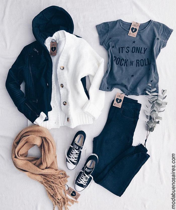Moda 2019 ropa de mujer precios. Moda invierno 2019 mujer argentina. Pantalones de jeans, babuchas, buzos, sweaters, sacos tejidos, remeras, ropa de mujer 2019 con precios argentina.