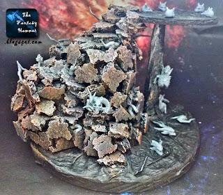 Warhammer diorama lava base WiP1