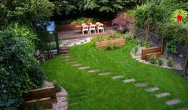 A wonderful backyard landscaping idea