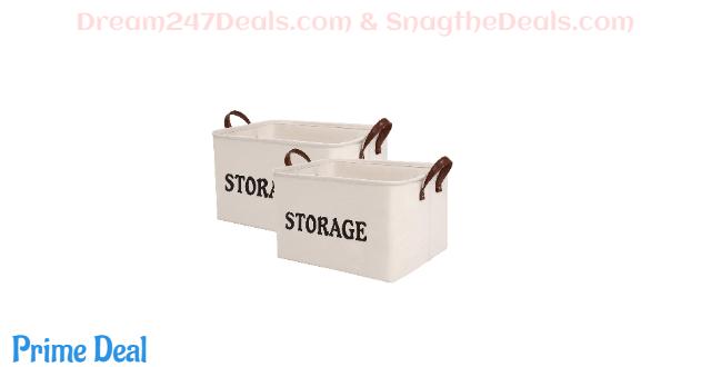 SHINYTIME 2 PCS Kids Storage Basket 45% OFF